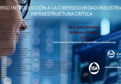 Curso de Introducción a la Ciberseguridad Industrial e Infrastructuras Críticas