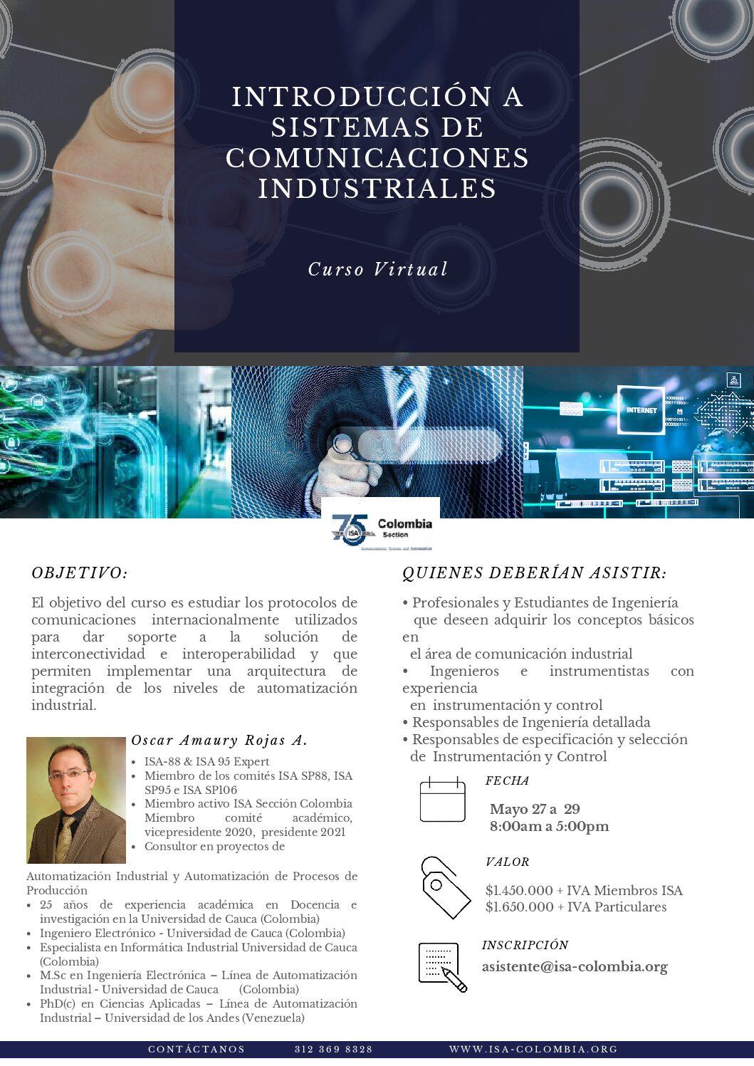 Curso Virtual: Introducción a los Sistemas de Comunicaciones Industriales